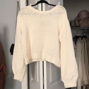 Cream knit, the softest sweater!